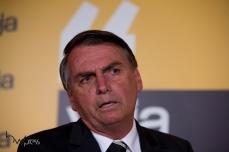 """Jair Bolsonaro, Deputado Federal concede entrevista coletiva após sua participação no evento """"Amarelas ao Vivo"""", organizado pela revista Veja, no Teatro CETIP, na zona oeste de São Paulo (SP), nesta segunda feira (27)."""