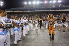 A apresdentadora Livia Andrade, durante o ensaio técnico para o Carnaval 2018 da escola de samba Império de Casa Verde, no Sambódromo do Anhembi em São Paulo (SP), neste domingo (28). Os desfiles do grupo especial acontecem nos dias 09 e 10 de fevereiro.