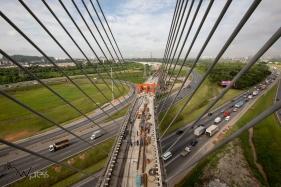 Vista das obras da linha 13 - Jade da CPTM, que ligará a capital ao Aeroporto de Internacional Guarulhos. A promessa do governador Geraldo Alckmin é entregar as estações CECAP e Aeroporto no mês de março, marcando o início da operação total da linha.