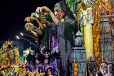 Escola de Samba Acadêmicos do Tatuapé, durante desfile das campeãs do Carnaval 2018, no Sambódromo do Anhembi, em São Paulo (SP), nesta sexta feira (16). © BW PRESS COPYING OR REPRODUCTION PROHIBITED. AVISO: Imagens protegidas pela lei do direito autoral 9.610/98. É proibido o uso ou cópia sem permissão do autor. Sujeito às penalidades legais.