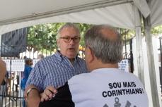 Roberto de Andrade, atual presidente do Corinthians, acompanha a votação para escolha da nova diretoria, na sede do clube, na zona leste de São Paulo (SP), neste sábado (03).