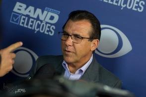 Luiz Marinho (PT), participa do debate entre candidatos ao governo do estado de São Paulo, das eleições 2018 promovido pela Band, na sede da emissora no bairro do Morumbi, zona sul de São Paulo, nesta quinta feira (16).