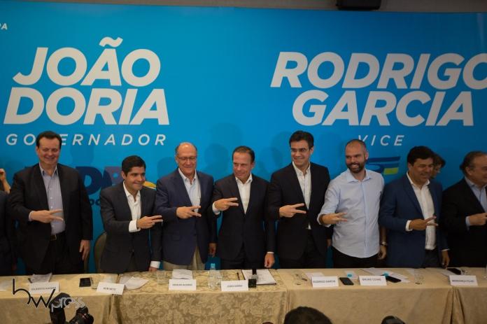 Entrevista coletiva em um hotel na zona sul de São Paulo (SP), nesta sexta feira (20), para apresentação do deputado Rodrigo Garcia como vice na chapa do pré candidato João Doria ao governo do estado de São Paulo.