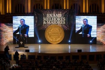 45ª edição do prêmio Melhores e Maiores, promovido pela Revista Exame, na Sala São Paulo, região central de São Paulo (SP), na noite desta segunda feira (13).