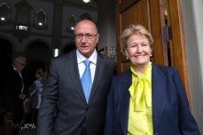 Geraldo Alckmin e Ana Amélia durante cerimônia inter-religiosa na Paróquia N. Sra. do Rosário de Fátima, na zona oeste de São Paulo (SP), nesta segunda feira (27), em homenagem ao jornalista Otávio Frias Filho, que faleceu no último dia 21.