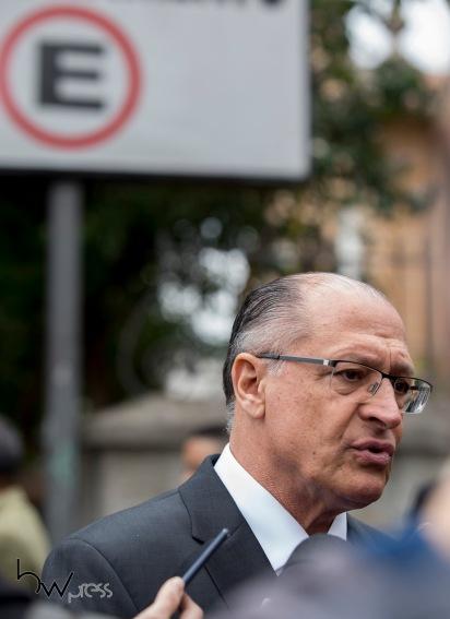 O candidato Geraldo Alckmin durante cerimônia inter-religiosa na Paróquia N. Sra. do Rosário de Fátima, na zona oeste de São Paulo (SP), nesta segunda feira (27), em homenagem ao jornalista Otávio Frias Filho, que faleceu no último dia 21.