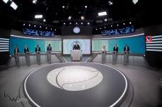 participa do debate das eleições 2018 promovido pela Record TV, na sede da emissora, na zona oeste de São Paulo, neste sábado (29).
