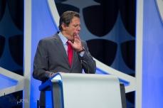 Fernando Haddad (PT), durante o debate das eleições 2018, promovido pelo SBT, na sede da emissora em São Paulo (SP), nesta quarta feira (26).