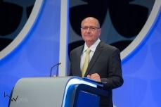 Geraldo Alckmin (PSDB), durante o debate das eleições 2018, promovido pelo SBT, na sede da emissora em São Paulo (SP), nesta quarta feira (26).