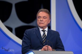Alvaro Dias (Podemos), durante o debate das eleições 2018, promovido pelo SBT, na sede da emissora em São Paulo (SP), nesta quarta feira (26).