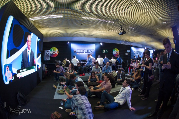 Debate das eleições 2018, promovido pelo Jornal Folha de São Paulo, UOL e SBT, na sede da emissora em São Paulo (SP), nesta quarta feira (26).