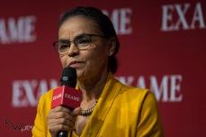 Marina Silva, candidata a Presidente da República pela REDE participa do Exame Fórum 2018, no Hotel Unique, na zona sul de São Paulo (SP), nesta segunda feira (03).