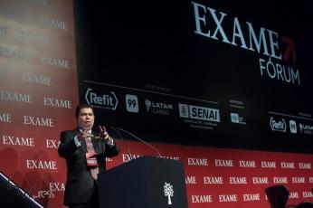 Mauro Benevides, coordenador do programa econômico do candidato Ciro Gomes, participa do Exame Fórum 2018, no Hotel Unique, na zona sul de São Paulo (SP), nesta segunda feira (03).