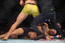 Luta durante o UFC Fight Night São Paulo, no Ginásio do Ibirapuera, na zona sul de São Paulo (SP), neste sábado (22). © BW PRESS COPYING OR REPRODUCTION PROHIBITED. AVISO: Imagens protegidas pela lei do direito autoral 9.610/98. É proibido o uso ou cópia sem permissão do autor. Sujeito às penalidades legais.
