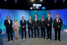Candidatos durante debate das eleições 2018 promovido pela TV Globo, na sede da emissora, na zona sul de São Paulo, nesta terça feira (02).