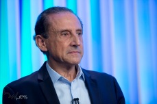 Paulo Skaf (MDB), durante debate das eleições 2018 promovido pela TV Globo, na sede da emissora, na zona sul de São Paulo, nesta terça feira (02).