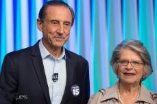 Paulo Skaf (MDB) e Lisete Arelaro (PSOL), durante debate das eleições 2018 promovido pela TV Globo, na sede da emissora, na zona sul de São Paulo, nesta terça feira (02).