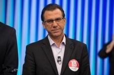 Luiz Marinho (PT), durante debate das eleições 2018 promovido pela TV Globo, na sede da emissora, na zona sul de São Paulo, nesta terça feira (02).