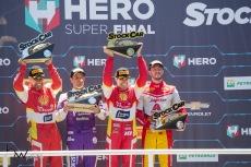 Podium da prova de encerramento da temporada 2018 da Stock Car, no Autódromo Internacional José Carlos Pace - Interlagos, na zona sul de São Paulo (SP) neste domingo (09).