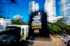 Campanha #lixoénolixo de conscientização da população sobre o impacto do lixo na capital, visando tornar a cidade mais limpa, promovida pela Prefeitura de São Paulo. Paulo Lopes @ BW PRESS FOTO COPYING OR REPRODUCTION PROHIBITED. É proibido o uso ou cópia sem permissão do autor.