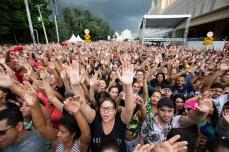 Apresentação de Mano Walter, durante a Virada Cultural 2019, no Palco Luz, região central de São Paulo (SP), neste domingo (19).