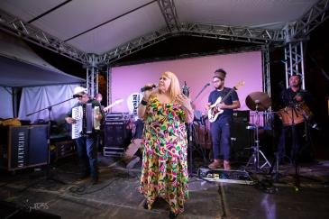 Apresentação de Anastácia durante o Arraial de São Paulo 2019, na Casa de Cultura Vila Guilherme, neste sábado (01).