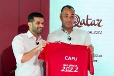 Evento para anúncio do ex jogador Cafu, como embaixador da Copa do Mundo de 2022, no Qatar, nesta sexta feira (21). Paulo Lopes @BWPressFoto COPYING OR REPRODUCTION PROHIBITED. Proibido o uso ou cópia sem permissão do autor. #qatar #cafu #copa #futebol #esporte #idolo #embaixador #estadio #fifa #campo #gol #torcida #taça #veja #istoe #afp #afpphoto #zuma #dpa #reuters #getty #epa #photojournalism #press #soccer #worldcup