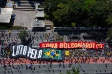 Manifestantes durante a 25ª edição do Grito dos Excluídos, em São Paulo (SP), neste sete de Setembro. PAULO LOPES @BWPressFoto COPYING OR REPRODUCTION PROHIBITED. É proibido o uso ou cópia sem permissão do autor. #agenciaoglobo #agenciaestado #istoé #afp #afpphoto #veja #vejasp #estadão #folhapress #getty #zuma #shutterstock #dpa #bwpress #europress #anpfoto #arfocsp #excluidos #protesto #manifestação #direitos #liberdade #investimento